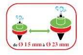 La pince Kliptx permet de poser des goutteur de 15 à 23mm de diamètres